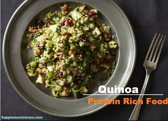 quinoa protein rich food