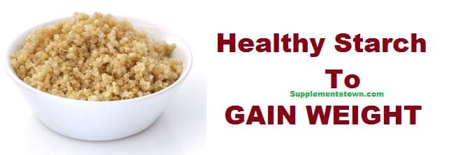 healthy starch foods to gain weight